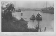 Coracle Men on River.