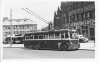 Cardiff tram in front of Fruit Market.