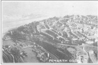 Aerial view of Penarth Head & Docks.